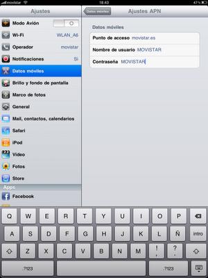 configurar ipad 3g telefonica