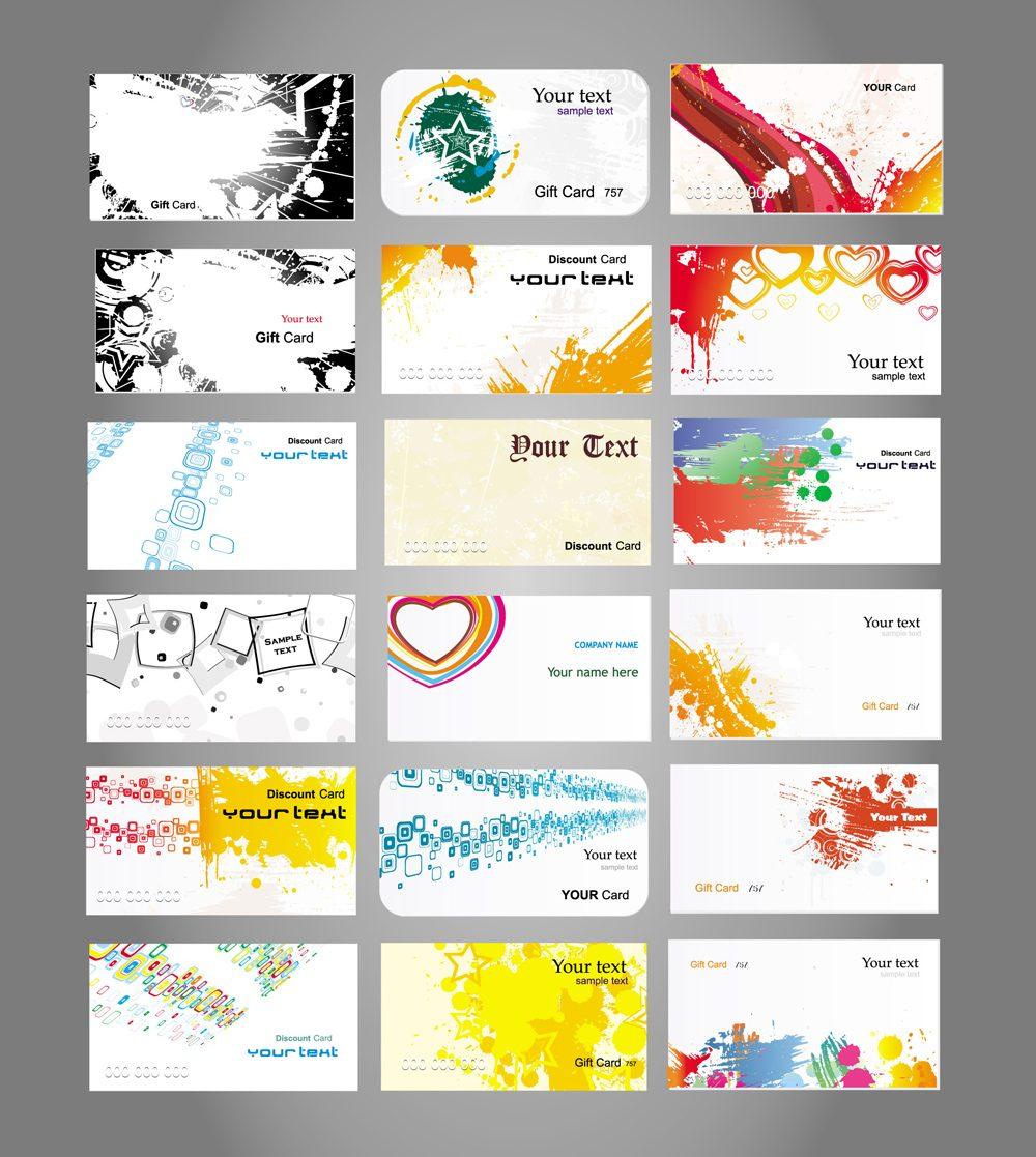 Vectores de tarjetas de credito dobleclic estudio de for Disenos para tarjetas