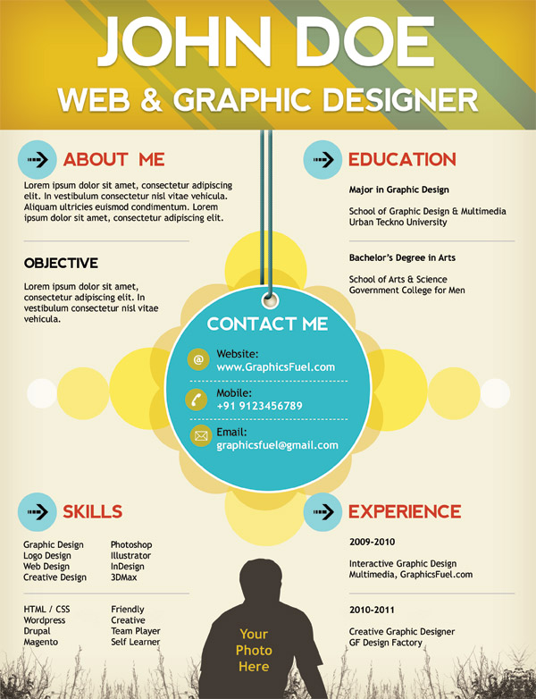 Plantilla de Curriculum para diseñadores
