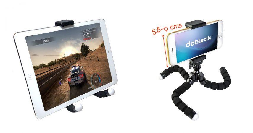 Trípode Flexible para Teléfono Móvil y Cámara DobleClic